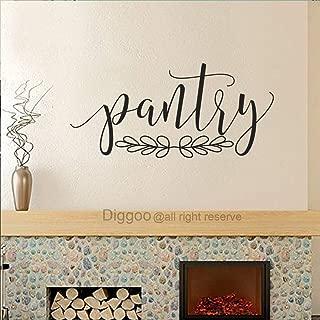 Diggoo Pantry Wall Decor Pantry Vinyl Decal Pantry Door Decal Glass Door Decal Vinyl Lettering (Black,8.5
