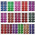 16 Sheets Full Wraps Nail Polish Stickers,DIY Self-Adhesive Nail Art Decals Strips