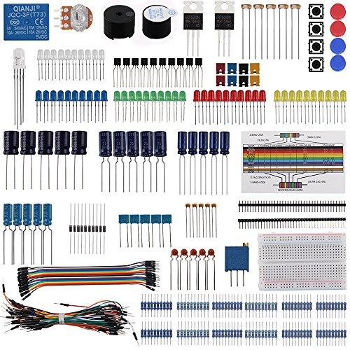 Keywish componente elettronica kit base Fun Bundle con breadboard cavo AC,, LED, potenziometro per Arduino UNO, MEGA2560, Raspberry Pi