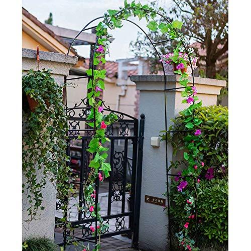 Metal Garden Arch, Rose Arches, Outdoor Climbing Plants Archway, 140cmx38cmx240cm, Garden Arbour (Black)