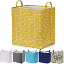Every Deco Rectangular Storage Bin Laundry Basket with Handles Fold-able Collaspible Toys Clothes Books Magazines Arts and...