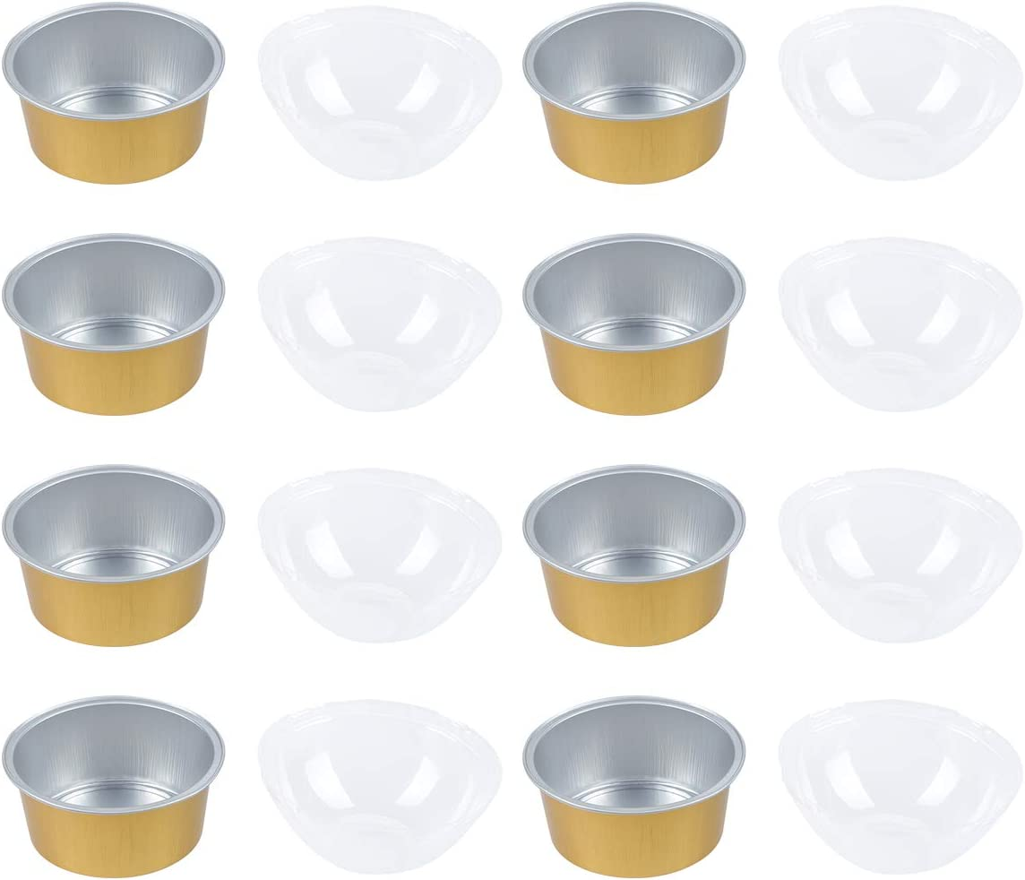 Useful 10 Sets 125ml Round Aluminum security Clear Cups 5% OFF Foil Baking with