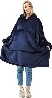 Oversized Blanket Sweatshirt, Super Soft Warm Comfortable Sherpa Hoodie for Adults & Children, Reversible, Hood & Large Po...