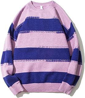 ONSEFZMZ Stripe Ripped Sweater Men Loose Men's Sweater Streetwear Sweaters for Man