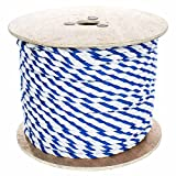 West Coast Paracord Twisted Polypropylene Pool Rope - 3 Strand Polypro Cord - Lightweight Utility Rope for Safety Lines, Pool Lanes - Blue and White (1/2 Inch x 50 Feet)