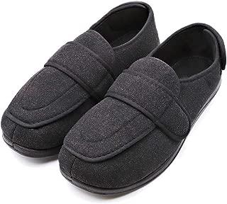 Women's Diabetic Edema Shoes with Adjustable Strap Closures Swollen Feet Arthritis Wide Nonslip Slippers Orthopedic Footwear Relief for Elderly Woman Neuropathy Indoor Outdoor