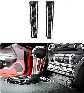 Car Gear Shift Knob Cover Trim Decoration Frame for Ford Mustang 2015-2020 (Carbon Fiber)