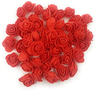 Satyam Kraft Foam Artificial Flower Roses (50 Piece, 3 cm) (Red)