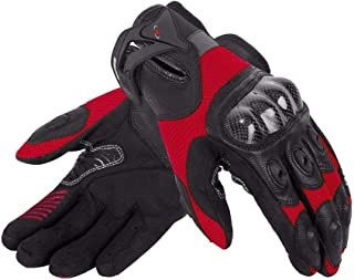 Kecontsy Motorcycle Gloves Carbon Fibre Leather Glove Summer Breathable Motocross Racing Gloves