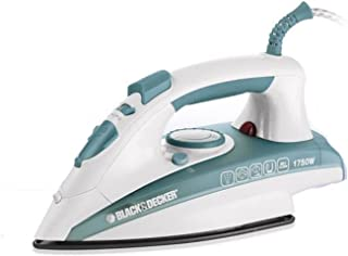 Black+Decker 1750W Vertical Steam Iron with Self Clean, Green/White - X1600 - B5, 2 Years Warranty