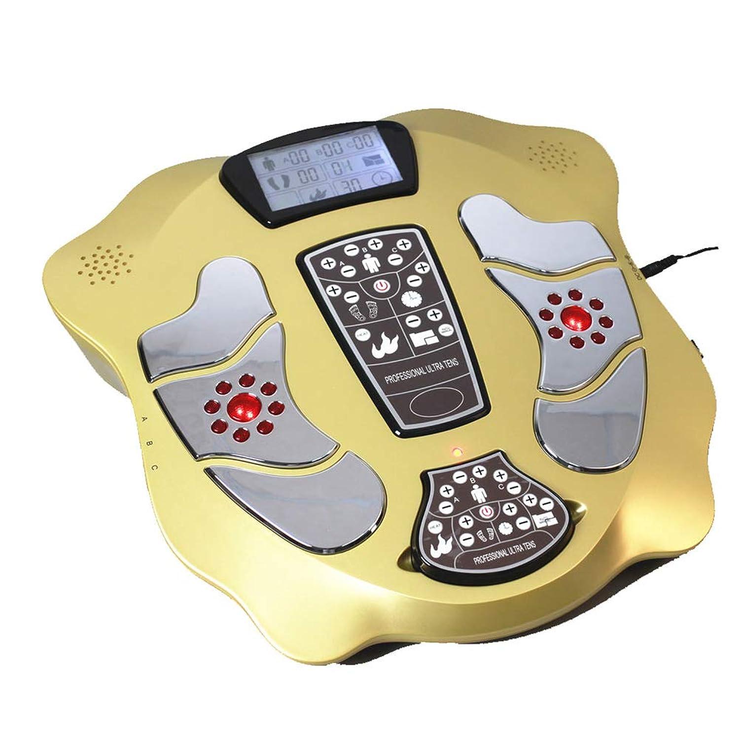 誠意ロック解除どこにも大型LCDディスプレイと血液循環のための赤外線加熱と電気EMSフットマッサージパッドスリミングベルトの4ペア