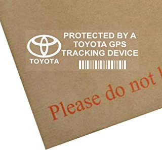 5 x PPTOYOTAGPS GPS Tracking Device Security Window Stickers 3.4x1.2 INCHES-Car,Van Alarm Tracker Vehicle Protection Deter