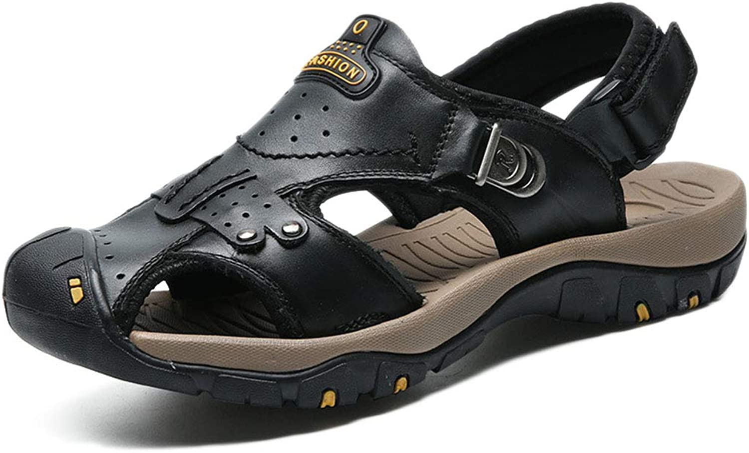 Men's Sports Sandals Summer Walking Adjustable Lightweight Outdoor Sports Mountaineering Baotou Sandals Beach shoes Leather