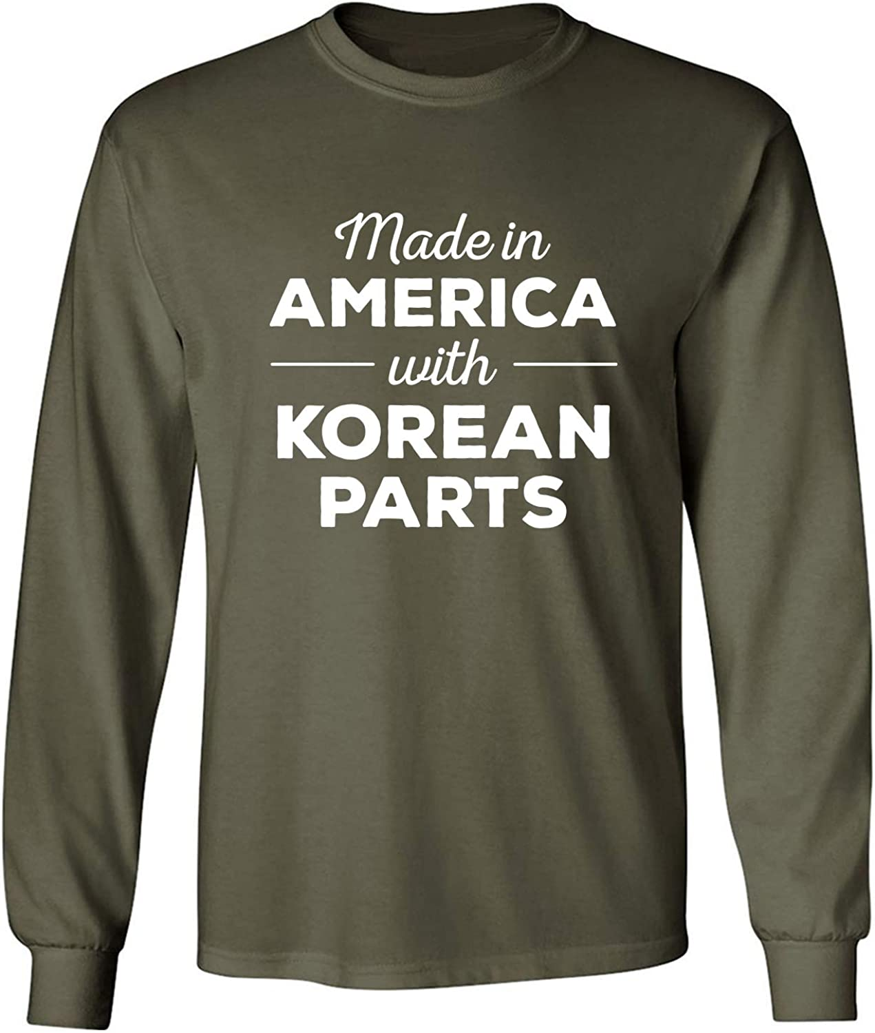 Made in America w/Korean Parts Adult Long Sleeve T-Shirt