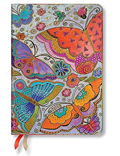 Paperblanks Terminplaner 2019 mit Lesebändchen & Innentasche, Schmetterlinge, Woche für Woche horizontal, Midi, 170 x 120 mm