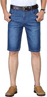 Pantalones Vaqueros para Hombre Pantalones Cortos Retro clásicos Lavados en Blanco Verano de Cintura Alta Pantalones Casua...