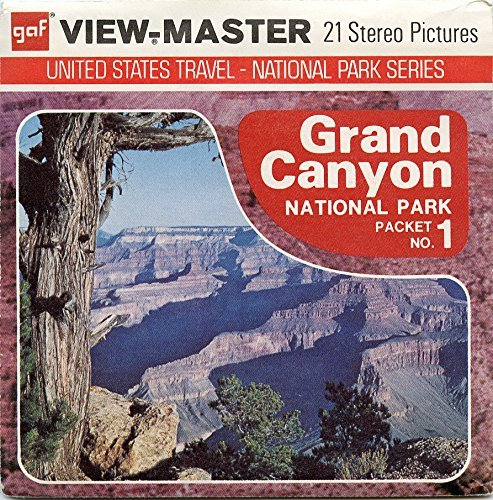 Classic ViewMaster - United States Travel - Grand Canyon National Park Packet No. 1 - 3Reel Packet - 21 3D images from 1970's