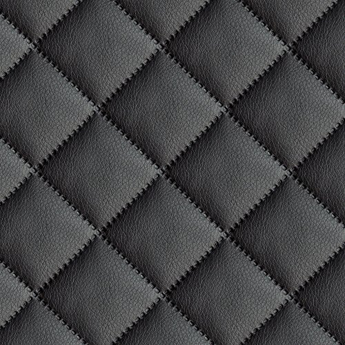 Kunstleder gesteppt kaschiert Meterware Leder Polsterstoff Stoff 140cm schwarz