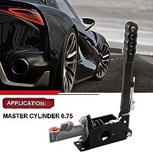 RYANSTAR Hydraulic Handbrake Adjustable Ebrake Long Lever Handle Fit for Drift Track Rally Racing Master Cylinder 0.75, E ...