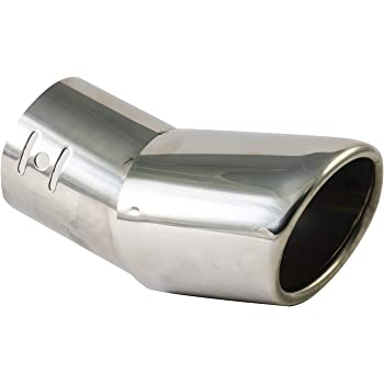 Straight Grebest Exhaust Pipe Car Exterior Parts Exhaust Connector Universal Car Vehicle Stainless Steel Tail Throat Exhaust System Muffler Pipe