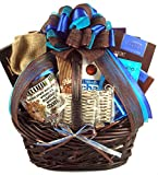 Gift Basket Village Extreme Chocolate Gift Basket For Her with Truffle Cookies, Deluxe Cocoa, Chocolate Peanuts, Almond Roca and More..., 8 Pound