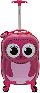 Rockland My First Luggage Polycarbonate Hardside Spinner, OWL (Pink) - B02-OWL