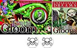 Cthulhu Gloom & Unpleasant Dreams Expansion Bundle Plus 2 Skull Buttons