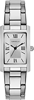 Caravelle Women's Quartz Watch with Stainless-Steel Strap, Silver, 16 (Model: 43L203)