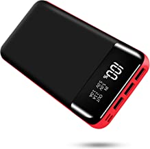 Portable Power Bank 25000mAh BCM High Capacity USB External Battery Pack Backup Battery Power Pack 3 Output 2 Input with LCD Display Compatible with Smartphone, Android Phone, Tablet and More