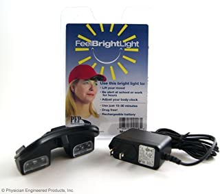 Feel Bright Light Portable Light Therapy Device with Rechargable Battery and Charger