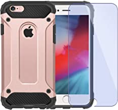 iPhone 8 Case, iPhone 7 Case, Shockproof Heavy Duty Case with [Screen Protector Tempered Glass]Ewaves Anti-Scratch Armor Protective Impact Resistant Silicone Cover for iPhone 7/8, 4.7 inch , Rose Gold