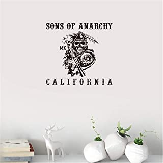 Gisuily Peel and Stick Removable Wall Stickers Sons of Anarchy Me California for Living Room Bedroom Nursery Kids Bedroom