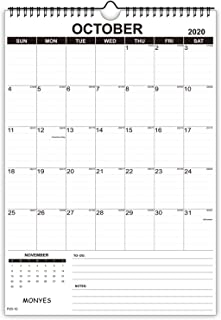 "Monyes 2020 - 2021 Wall Calendar, 17"" x 12"" Academic Desk Calendar, 2 Year Wirebound Calendar"