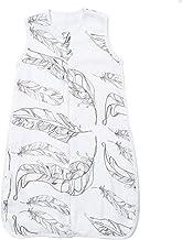JXWANG Baby Sleeping Bag-Toddler Bamboo Cotton Gauze Blanket Swaddle,Feather-S