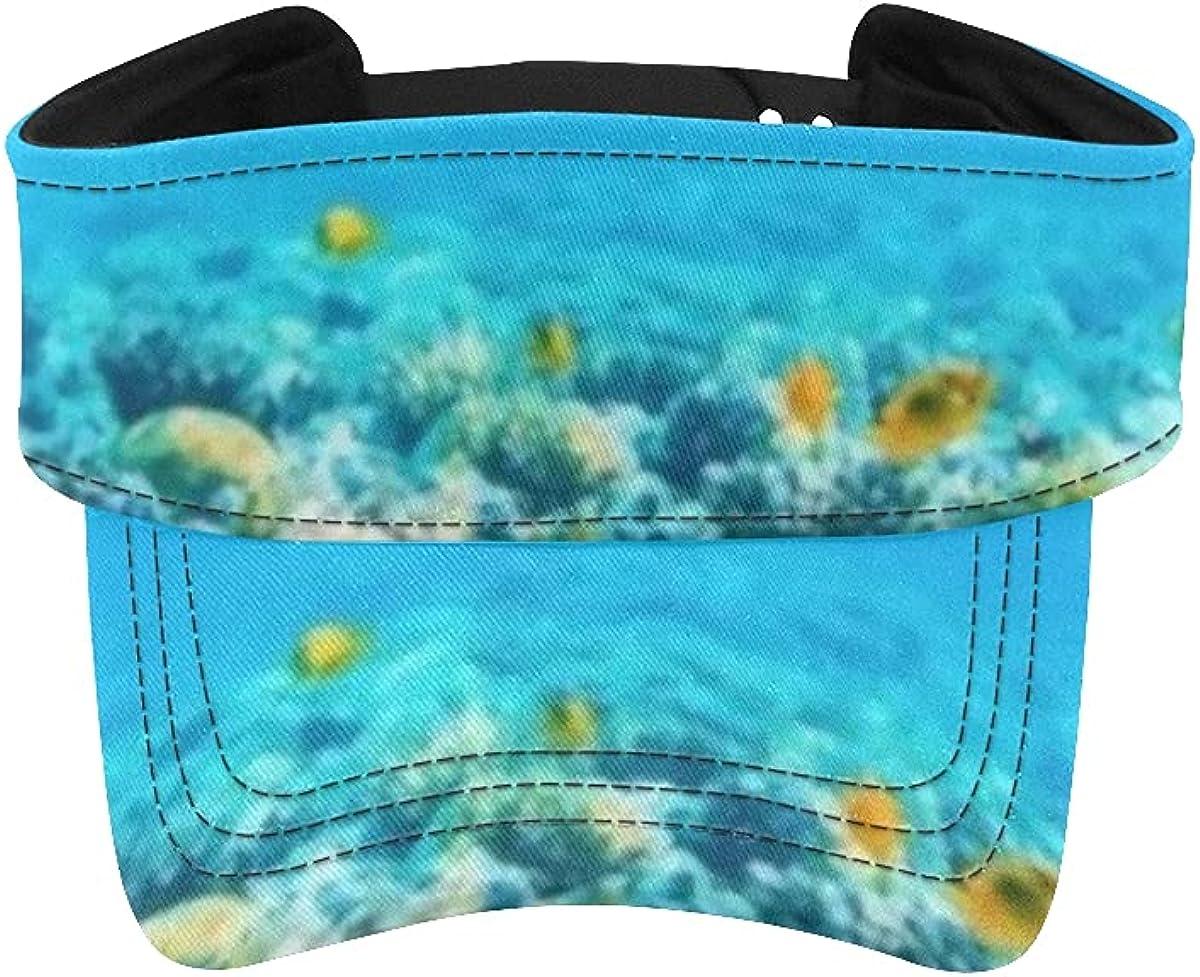 Sun Visor Hat Beautifiul Underwater View Austin Mall Tropical Panoramic Fish Popular products
