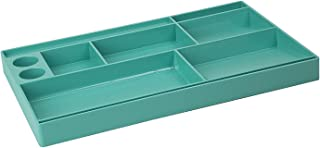 Acrimet Drawer Organizer Bin Multi-Purpose Storage for Desk Supplies and Accessories (Plastic) (Solid Green Color)