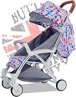 Baby Cart,High Landscape Stroller Light and Easy to Fold Baby Car Can Sit Reclining Stroller with Trolley Trolley (Color : Multi-Colored)