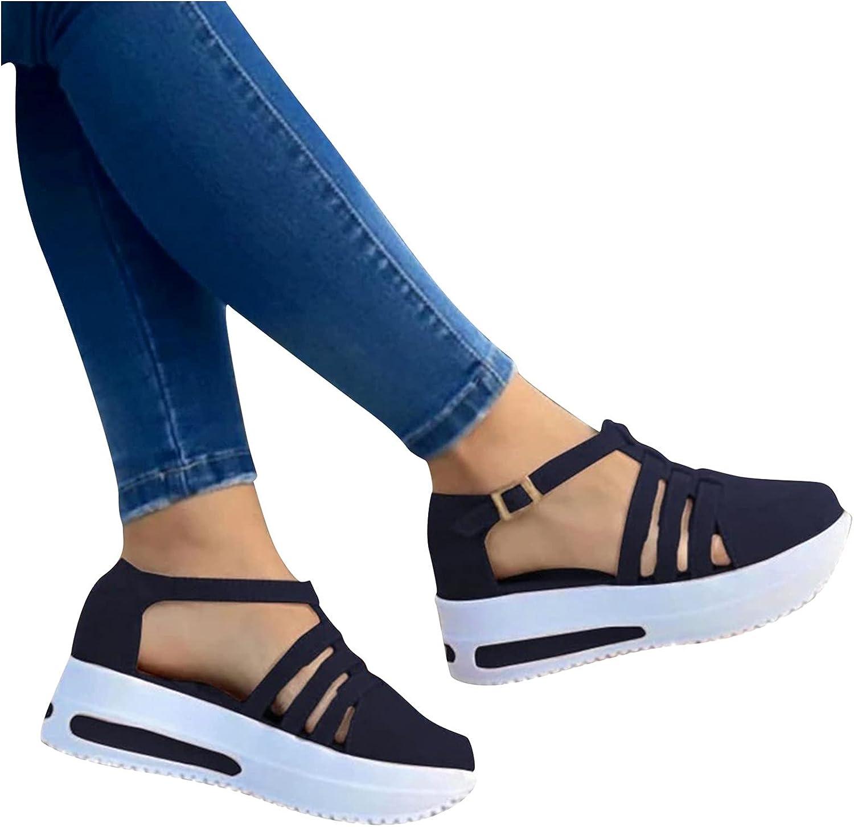 Women's Sandals Buckle Closed Toe Comfortable Solid Color Rare Cute P Austin Mall