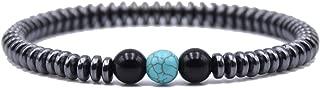 Natural Stone Bracelet Men Charm Hematite Beads Bracelet Male Cool Biker DIY Jewelry Accessories Bracelet Homme Joyas