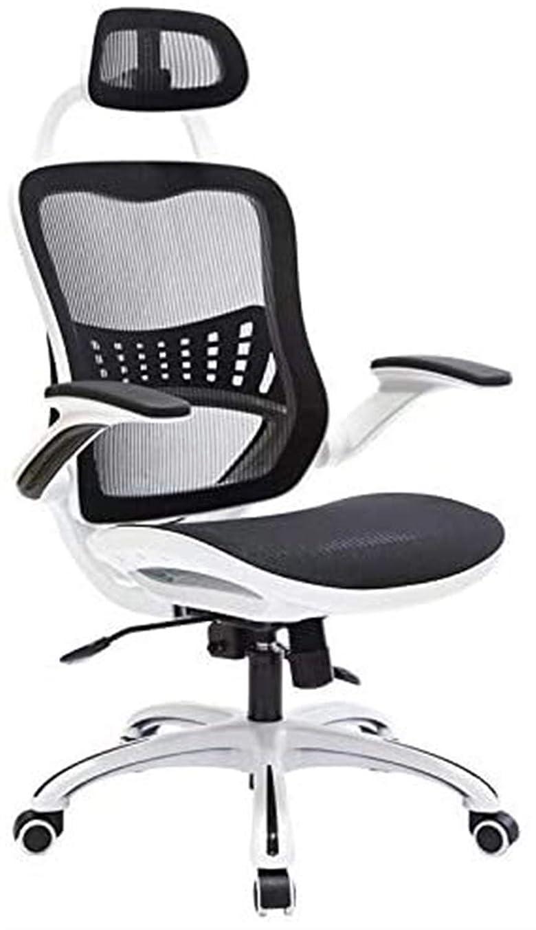 定期的なラリーベルモントエジプト人腰椎サポートとローラーブレードホイールと人間工学的調整オフィスチェア - 通気性メッシュを使用した高バック - 厚手のシートクッション - 調整可能なヘッド&アーム休符、シート高 - リクライニング