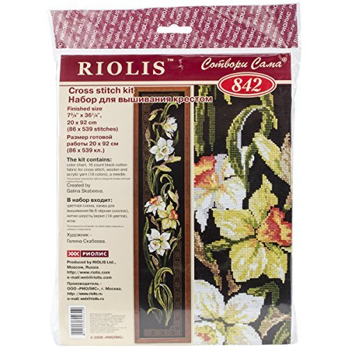 RIOLIS Riolis R842 Narcisos Kit de punto de cruz contado, 7.75 por 36.25 pulgadas por