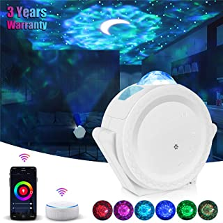 Star Projector Night Light Galaxy Projector Light Smart Life Work with Alexa Google Home Ocean Wave Night Sky Projector Star Lights for Bedroom Home Theatre Baby Kids Adults Ceiling Party Room