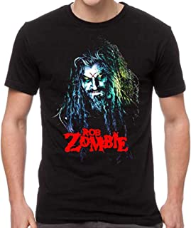 Rob Zombie Men's Hell Billy Head T-Shirt Black