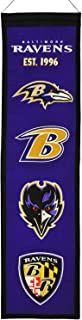 NFL Football Baltimore Ravens Heavy Wool with Embroidery Sport Team Logo Heritage Banner #1003