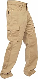 newfacelook Men Cargo Combat Trousers Multi Pockets Pants Mens Work Trousers for Man