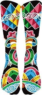 Colorido Tie Tinte De Compresión Calcetines De Fútbol De Calcetines Altos Calcetines Largos Tobilleros Antideslizantes