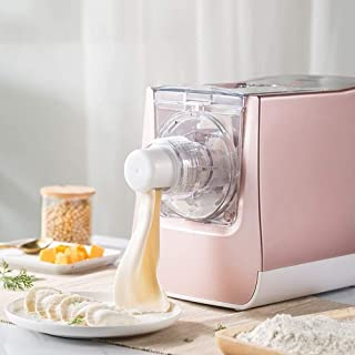 Pasta Maker Home Intelligent Automatic Noodle Machine Vertical Outer Electric Noodle Pressing Machine And Noodle Making For Kitchen (Color : Pink, Size : 19x20x15.5CM) LMMS