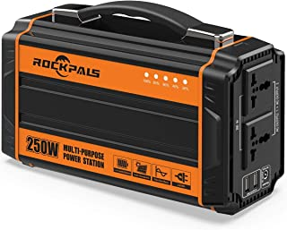 Rockpals 250-Watt Portable Generator Rechargeable Lithium Battery Pack Solar Generator..