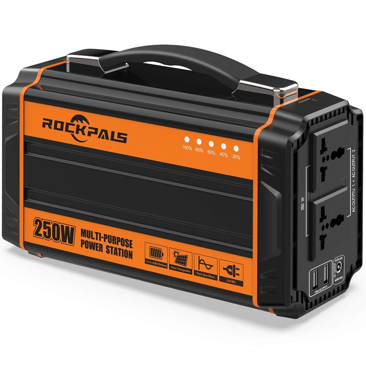 Rockpals 250 Watt Generator Rechargeable Emergency