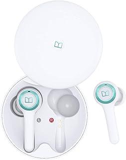 Monster Auriculares inalámbricos Bluetooth de 5 pulgadas con funda de carga inalámbrica, TWS auriculares doble micrófono i...